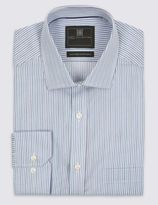 Marks and Spencer Pure Cotton Non Iron Striped Shirt