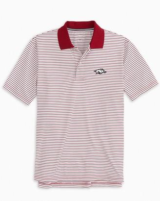Southern Tide Arkansas Razorbacks Pique Striped Polo Shirt