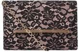 Dorothy Perkins Black Lace Magdot Clutch Bag