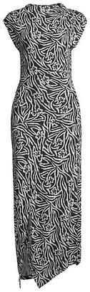 Rebecca Taylor Zebra Lily Sleeveless Dress