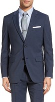 Theory Men's Wellar Trim Fit Plaid Wool Sport Coat