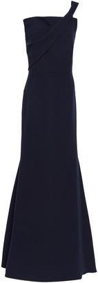 Roland Mouret One-shoulder Wool-crepe Gown