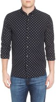 Scotch & Soda Men's Extra Slim Fit Diamond Woven Shirt
