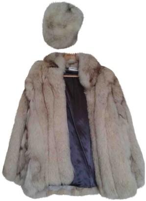Sonia Rykiel Beige Fox Coat for Women