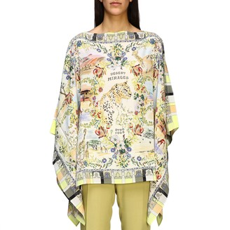 Etro Tunic Silk Kaftan With Desert Mirage Print