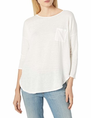 Velvet by Graham & Spencer Women's Linen Knit 3/4 Sleeve Pocket Tee