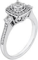 Vera Wang Simply vera diamond halo engagement ring in 14k white gold (3/4 ct. t.w.)