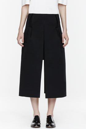 J.W.Anderson Black neoprene Split Skirt