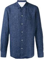 Officine Generale plain shirt - men - Linen/Flax - L