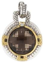 Judith Ripka Two-Tone Diamond & Smoky Quartz Enhancer