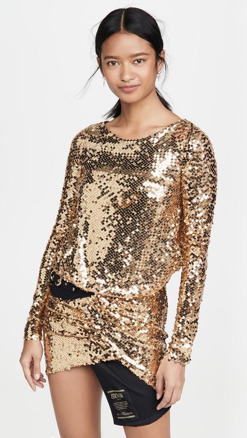 Versace Sequin Dress with Belt