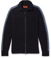 Missoni Bouclé-knit Zip-up Sweater - Navy