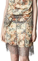 Haute Hippie The Orian Printed Mini Skirt w/ Embellishments