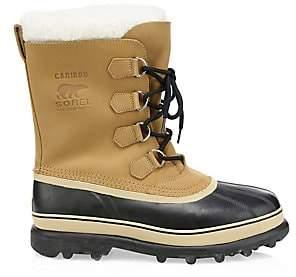 Sorel Men's Caribou Faux Fur Waterproof Boots