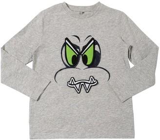 Stella McCartney Kids Funny Face Dragon L/s Cotton T-shirt