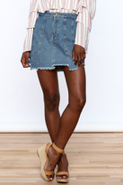 Honey Punch Multi Panel Denim Skirt