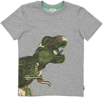 Paul Smith DINO PRINT COTTON JERSEY T-SHIRT