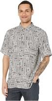Quiksilver Waterman Model Island Short Sleeve (Flint Grey Island) Men's Clothing