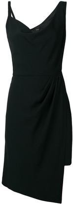 Pinko asymmetric V-neck midi dress