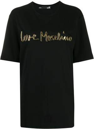 Love Moschino 3D logo print T-shirt