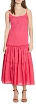 Lauren Ralph Lauren Embroidered Tiered Maxi Dress