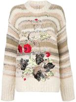 Antonio Marras floral embroidery sweater