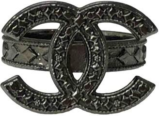 Chanel CC Grey Metal Rings