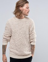 Asos Knitted Sweater in Soft Touch Textured Yarn