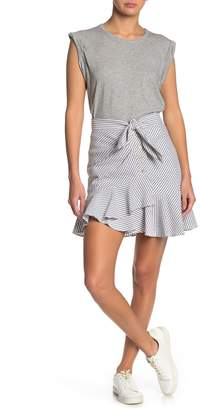Veronica Beard Kaia Stripe Waist Tie Mini Skirt