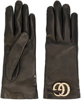 Gucci GG logo driving gloves - women - Lamb Skin/Cashmere - 7