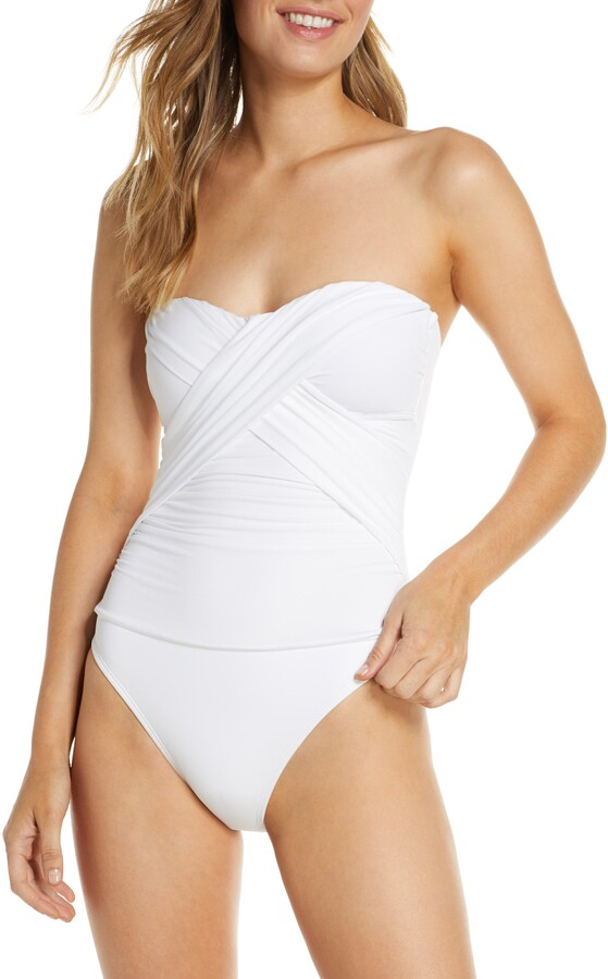 4ee74a2a7f8 Bandeau One Piece Swimsuits - ShopStyle