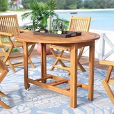 Beachcrest Home Alanna Solid + Manufactured Wood Dining Table
