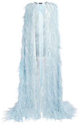 Jenny Packham Feather Maxi Cape