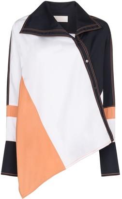 Peter Pilotto asymmetric colour-block shirt