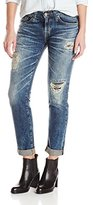 Big Star Women's Billie Slouchy Skinny Boyfriend Jean In Distressed Blix Wash