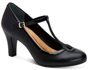 Giani Bernini Varinaa T-Strap Pumps, Created for Macy's Women's Shoes