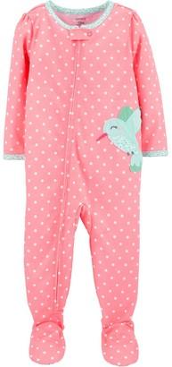 Carter's Toddler Girl Hummingbird Footed Pajamas