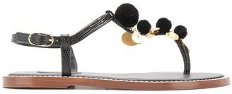 Dolce & Gabbana Pom Pom Thong Sandals