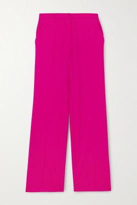 Nina Ricci Wool-gabardine Straight-leg Pants - Fuchsia