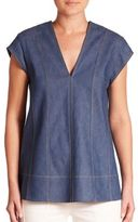 Derek Lam Short Sleeve Peplum Top