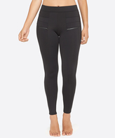 Yummie by Heather Thomson Black Zip-Accent Leggings