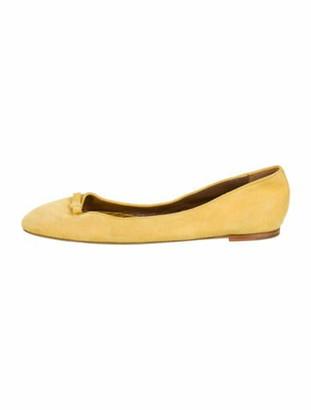 Tabitha Simmons Clover Suede Ballet Flats Yellow