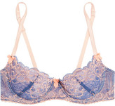 Mimi Holliday Embroidered Lace And Stretch-Tulle Plunge Bra