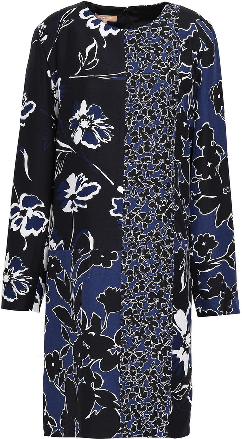 Michael Kors Collection Floral-print Crepe Dress