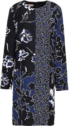 Michael Kors Collection Floral-print Crepe Dress
