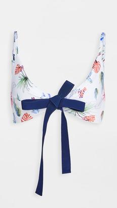 Silvia Tcherassi Fern Swimwear Bikini Top