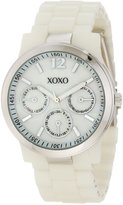 XOXO Women's XO5518 Ivory Bracelet with Silver Case Watch