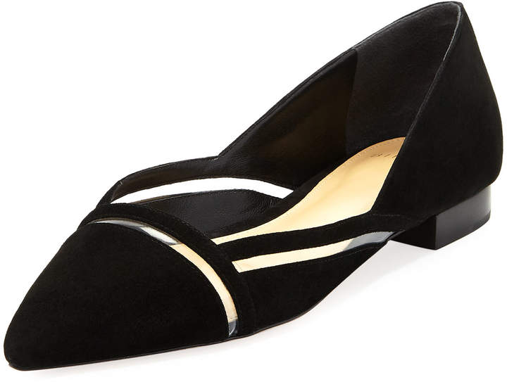 Alexandre Birman Sommer Suede Flat with PVC