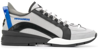 DSQUARED2 Leather-Panel Low Top Trainers