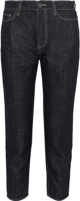 Current/Elliott The Vintage Cropped High-rise Straight-leg Jeans